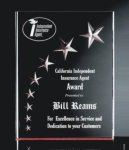 RIST-7 3 Dimensional Carved Star Plaque  Star Acrylic Award Trophy