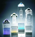 Fluted Pillar Acrylic Award Summit Awards