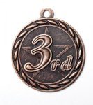 3rd Place 2 Round Sculptured Medal     Volleyball Trophy Awards