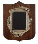 Genuine Walnut Plaque with Satin Finish and Metal Casting Wreath Awards