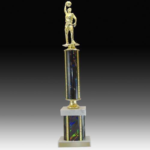 Double Tier Basketball Trophy Trophies