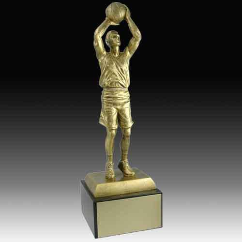 Antique Gold Series Basketball Trophy Basketball Trophies Awards