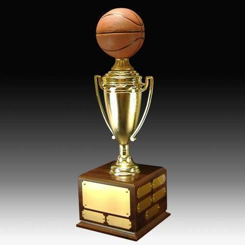 Perpetual Basketball Trophy with Cup Basketball Trophies Awards