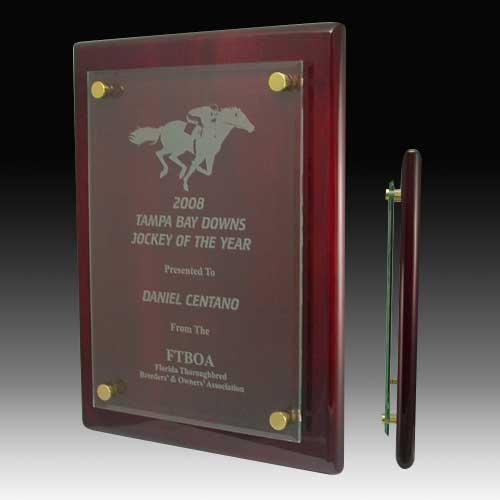 glass piano plaque corporate gifts