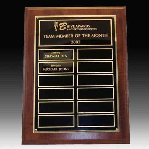 Perpetual Plaque with No Screw Nameplates Perpetual Plaques